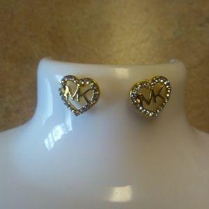 MK gold tone earrings